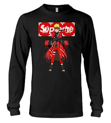 naruto supreme t shirt, naruto supreme hoodie, naruto supreme jacket