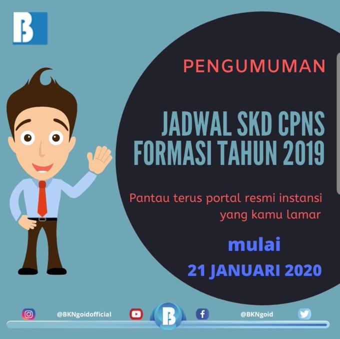 Pelaksanaan Seleksi SKD CPNS berlangsung 27 Januari–28 Februari 2020, Jadwal dan Lokasi SKD Segera Diumumkan
