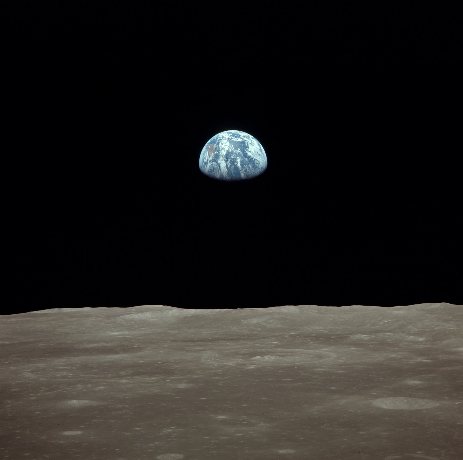 Earthrise seen from the Moon | Earth Blog
