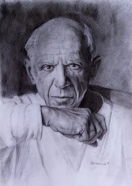 Pablo Picasso Portrait Drawing