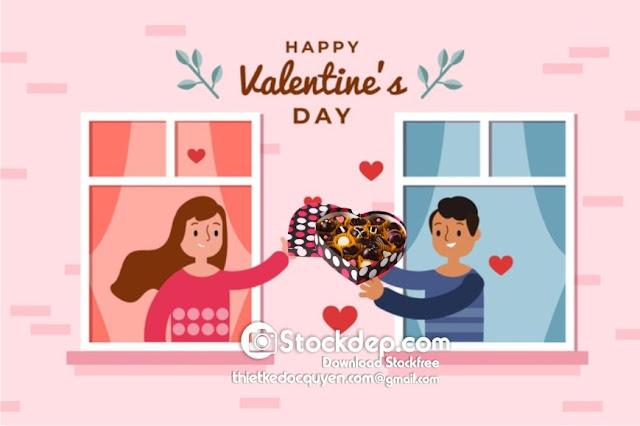 valentine's day sale background tặng quà 14.2