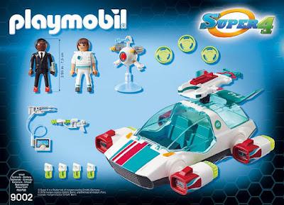 PLAYMOBIL Super 4 9002 FulguriX con Agente Gene CONTENIDO CAJA