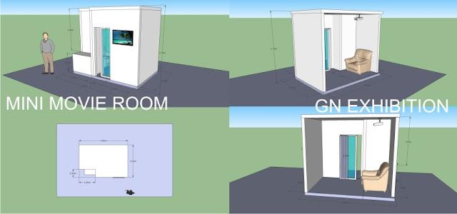 partisi pameran mini movie room, Mini Movie Booth
