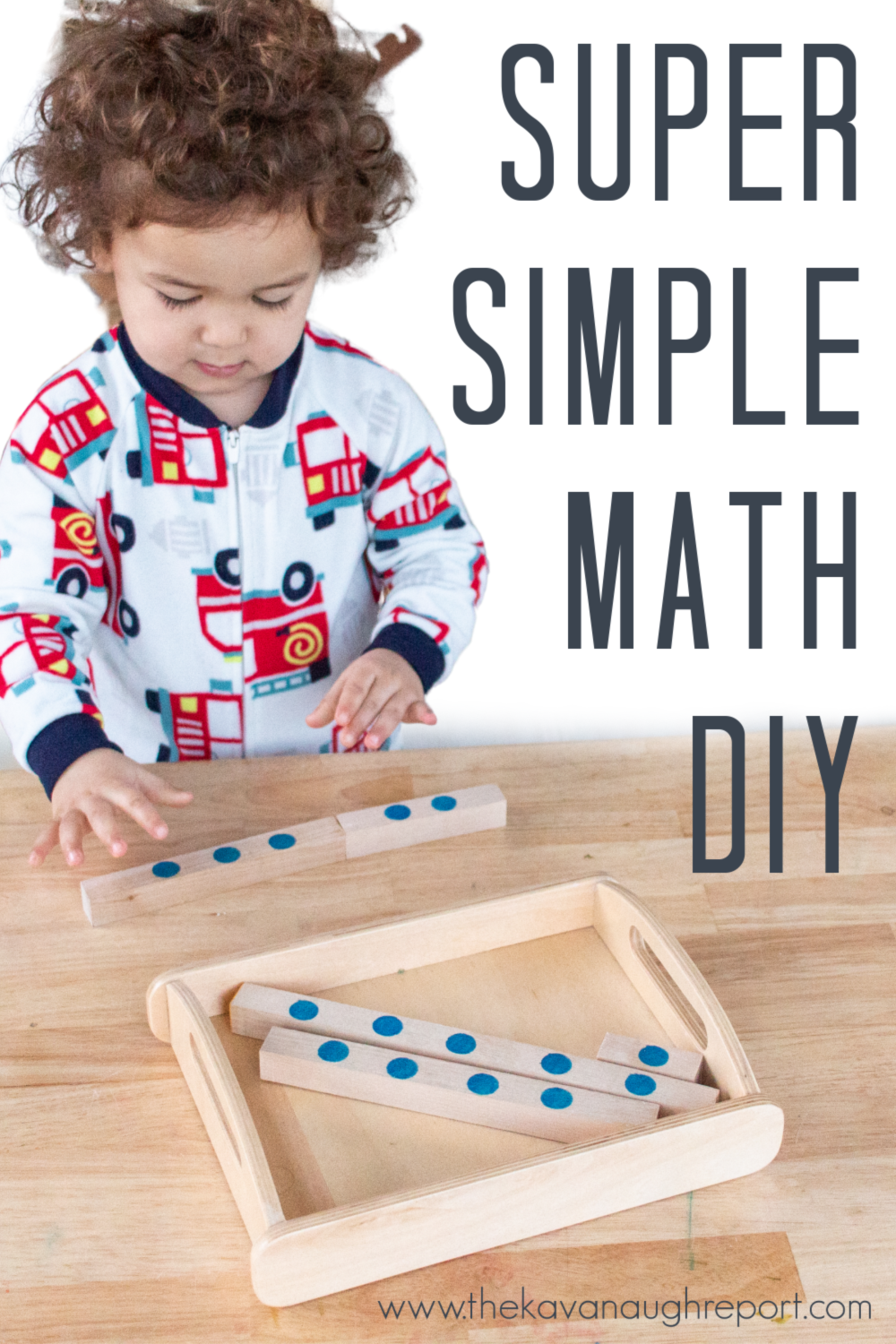 This Montessori inspired DIY activity is perfect to introduce math concepts to 3-year-olds. This simple toy is perfect for your Montessori shelves and a great way to get started with Montessori math at home.