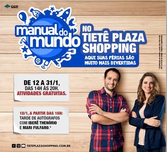Tietê Plaza Shopping traz oficina gratuita de experimentos do Manual do Mundo