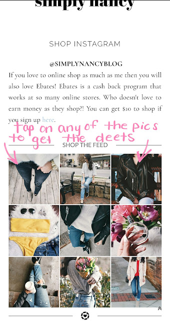 how to shop my instagram using rewardStyle