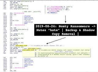 Nemty Ransomware vssadmin Windows