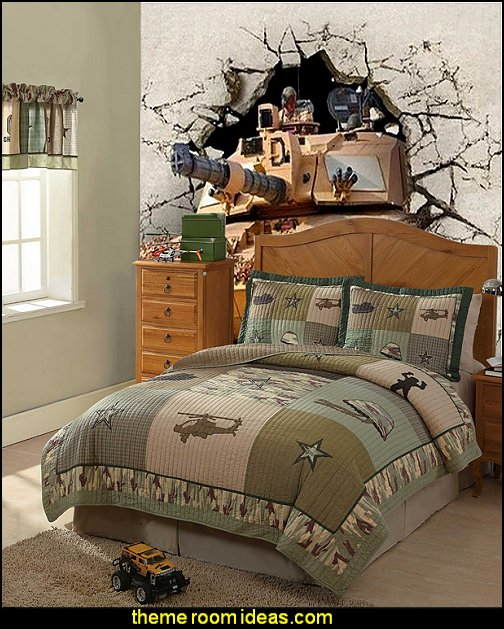 Decorating theme bedrooms maries manor army theme for Themed bedroom wallpaper