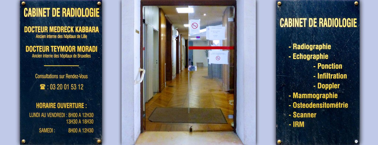 Porte vitrée entrée du cabinet