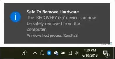 أخرج محرك USB في مستكشف ملفات الويندوز