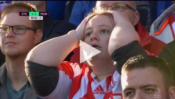 Video Stoke City vs Man Utd