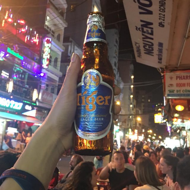 Bui Vien Street has many different beers for you to choose from.