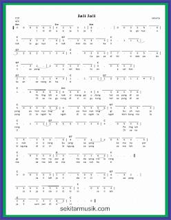 not angka jali jali lagu daerah jakarta