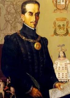 Retrato de Inca Garcilaso de la Vega con pluma en mano