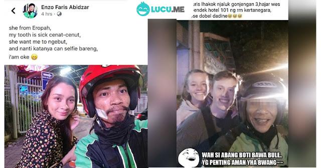 10 Curhat Lucu 'Driver Ojek Online Anter Bule' Ini Kocak Abis