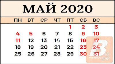 как отдыхаем в мае 2020-го