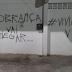"""Em Boqueirão: casa do acusado de matar Viviane é pichada: """"A cobrança vai chegar"""""""