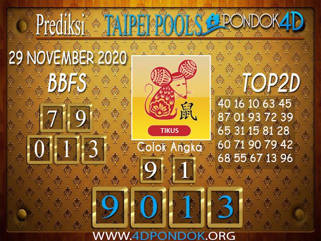 Prediksi Togel TAIPEI PONDOK4D 29 NOVEMBER 2020