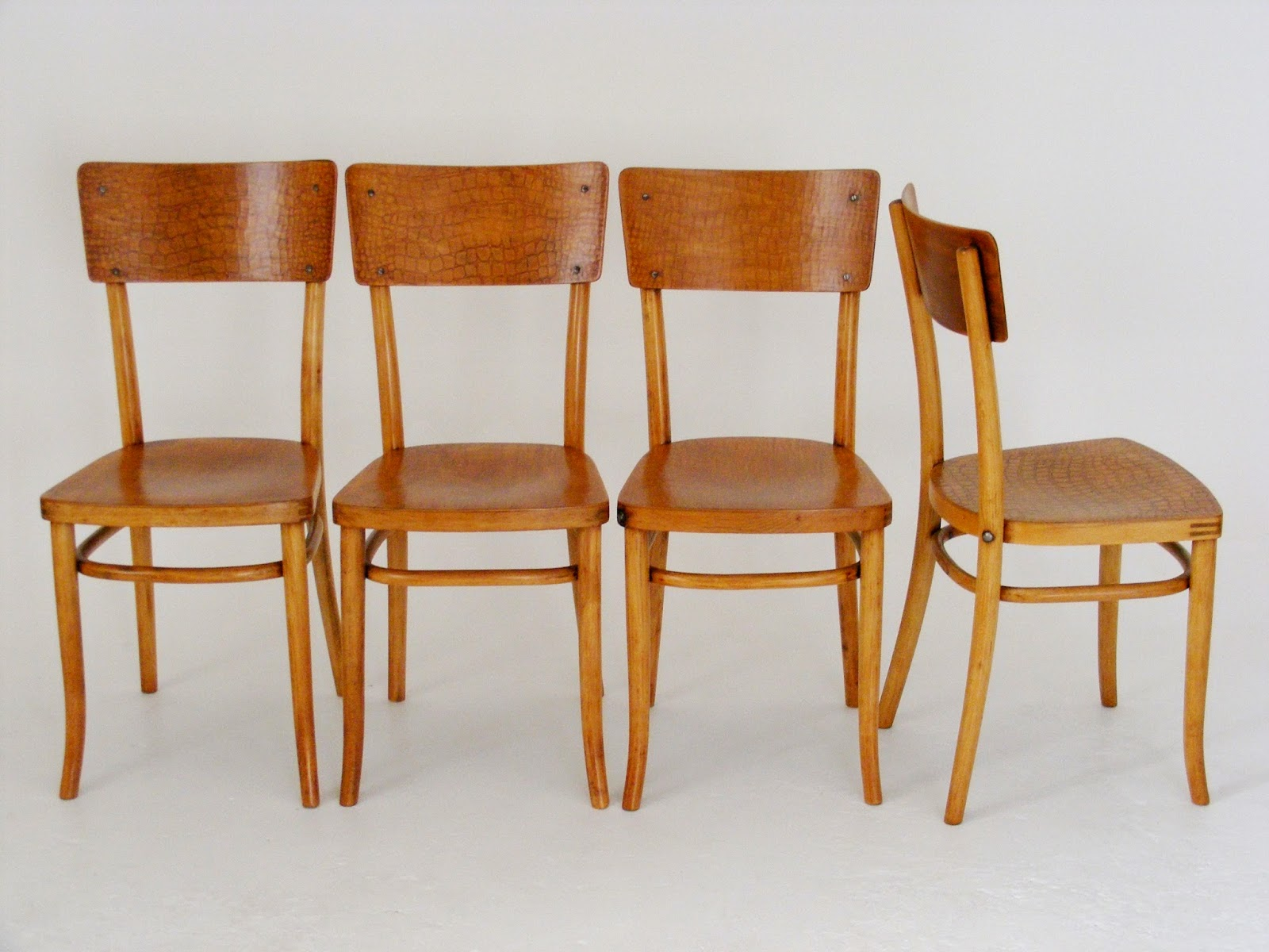 Set of 4 wooden Mid-Century chairs. Manufactured by u0027Mundusu0027 and Ju0026J Kohn Ltd Poland (Fabrique en Polange) with original makers mark & VAMP FURNITURE: March 2014