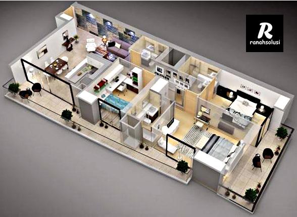 Gambar Desain Rumah Minimalis 3 Kamar Tidur Sederhana