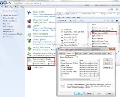 Cara Menambah Database ESPT Dengan Setting ODBC Untuk Multi NPWP