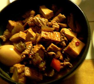 味噌味のモツ煮