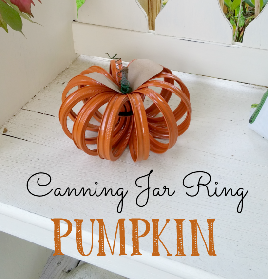How to make a super cute pumpkin from canning jar rings!