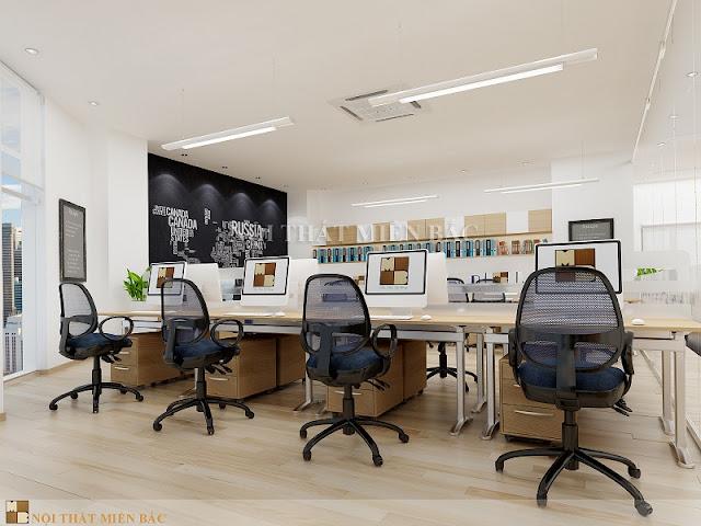 Để sở hữu thiết kế văn phòng cao cấp thì chúng ta phải đảm bảo được yếu tố đồng bộ tức là sự thống nhất về mẫu mã, kích thước cũng như màu sắc.