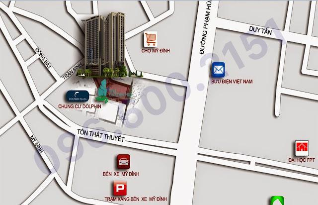 Vị trí dự án căn hộ chung cư 99 Trần Bình.