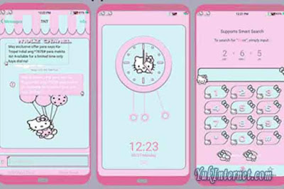 download tema oppo hello kitty pink