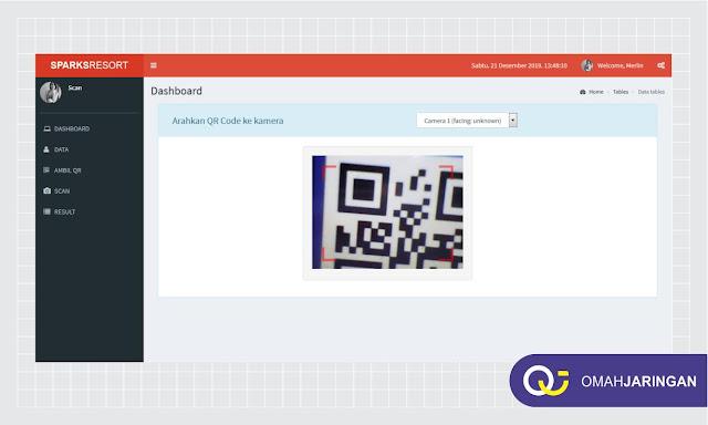 Dashboard Admin Pembuatan QR Code Aplikasi Absensi Karyawan Berbasis Web