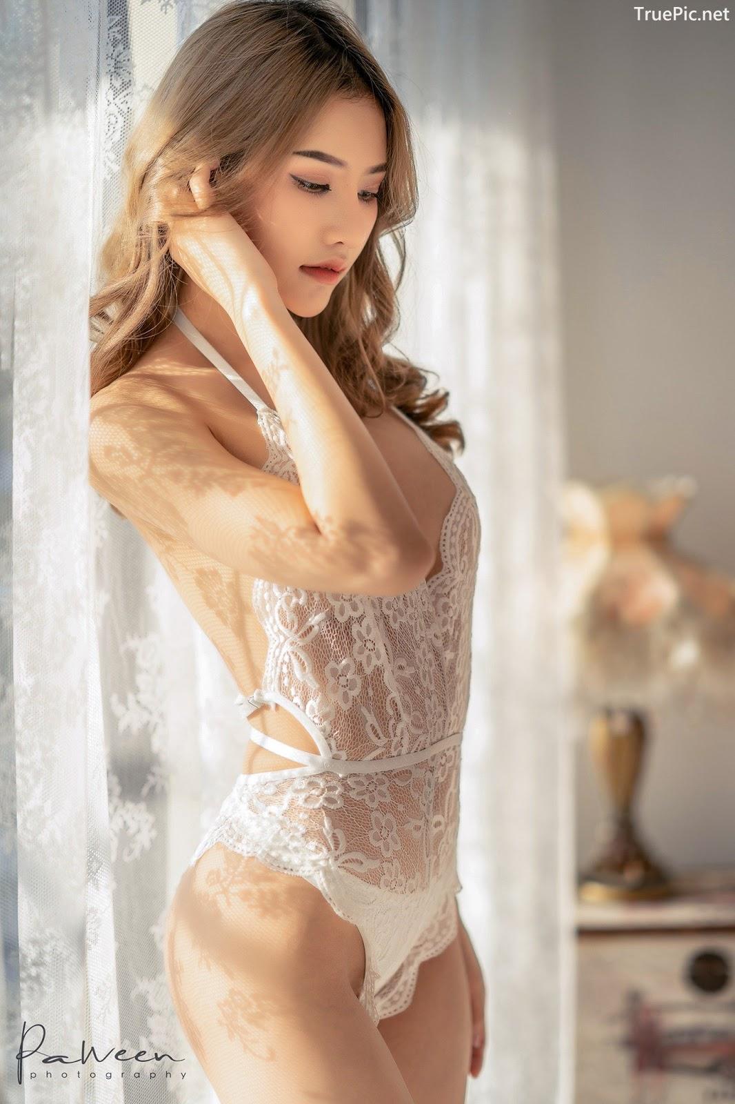 Image Thailand Model - Atittaya Chaiyasing - White Lace Lingerie - TruePic.net - Picture-2
