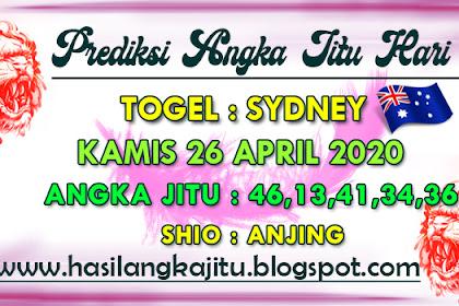 Prediksi Angka Jitu Togel Sydney Minggu 26 April 2020