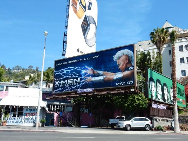 X-Men Apocalypse movie billboard