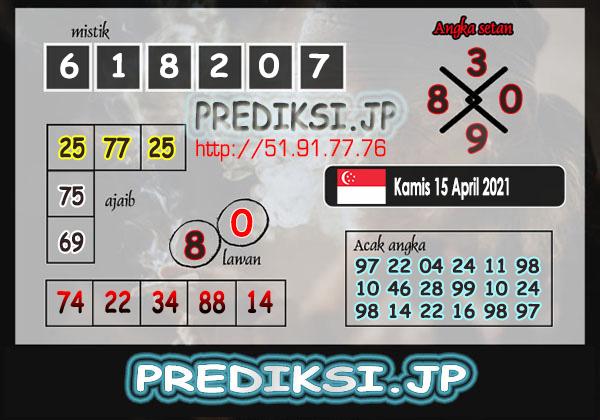 Prediksi JP SGP Kamis 15 April 2021