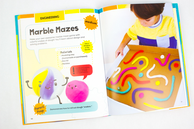 How to Make Play Dough and Cardboard Mazes- Such a great STEAM activity for kids of all ages (preschool + elementary!)