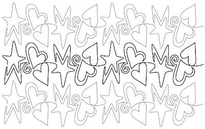 'Starz and Hearts' designed by Denise Schillinger