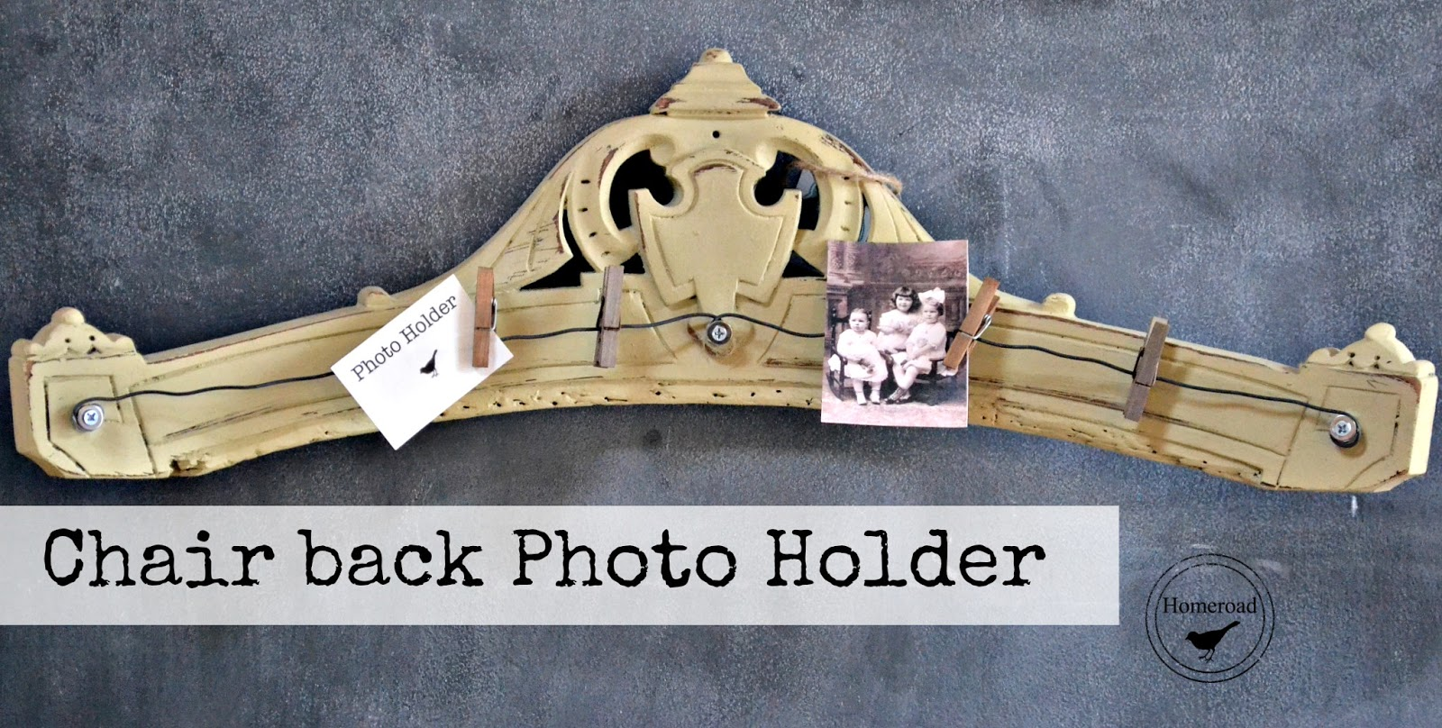 Repurposed Antique Furniture Photo Displays www.homeroad.net