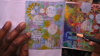 Art Journal page transformation - adding layers to the page by Amanda Trought
