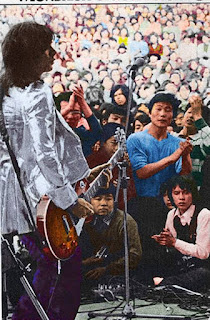 Alan Merrill with Vodka Collins, outdoor show at Hibiya Park, Tokyo Japan, 1973