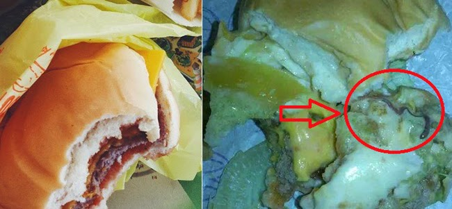 Earth Worm Allegedly Found on McDonald Cheese Burger