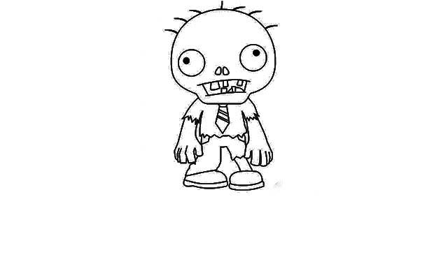 dibujo facil zombie