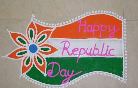 Happy Republic day Rangoli Design