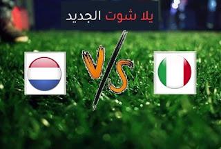 نتيجة مباراة ايطاليا وهولندا اليوم الاربعاء بتاريخ 14-10-2020 دوري الأمم الأوروبية