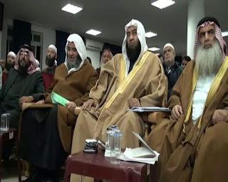 Syaikh Ali Hasan Al-Halabi bersama Para Ulama Lainnya