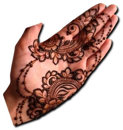 Simple Mehndi Design Jewellery