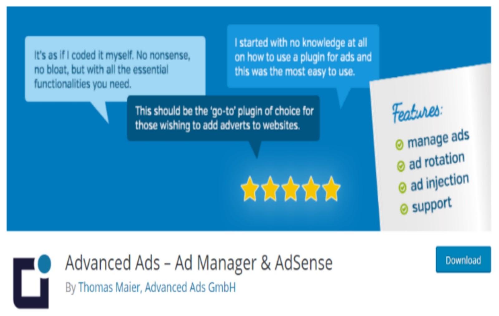Advanced Ads Manager WordPress Plugin
