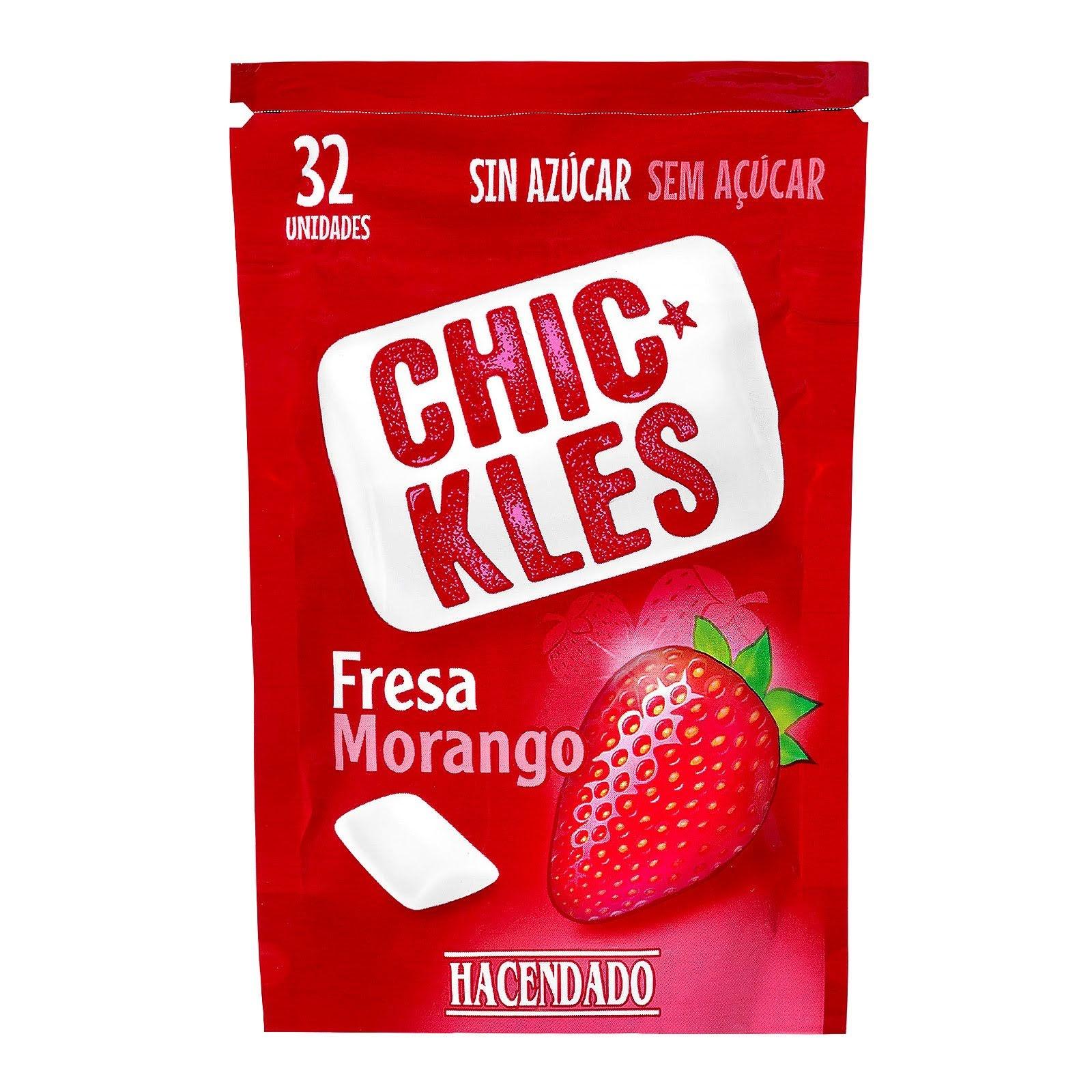Chicles sin azúcar en grageas sabor fresa Chic-Kles Hacendado