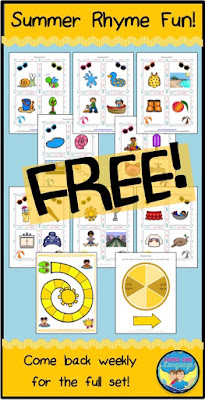 Summer Rhyming Game Freebie from Looks Like Language