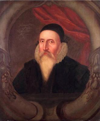 Ritratto di John Dee dipinto nel XVII secolo da un artista sconosciuto. È preso dal National Maritime Museum di Greenwich. 1609